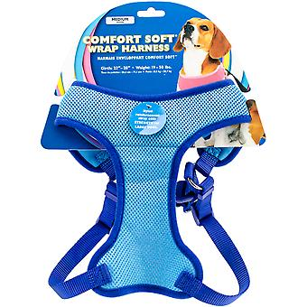 Comfort Soft Wrap Adjustable Dog Harness Medium-Blue, Girth Size 22