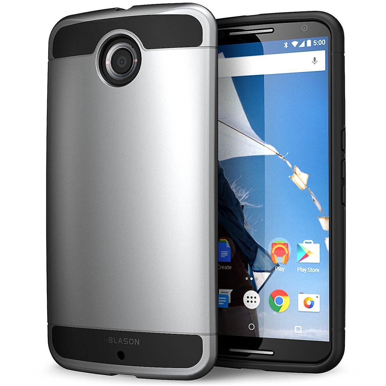 i-Blason Google Nexus 6 Case - Unity Series Armored 2-Layer Ultra Slim Hybrid Case - Space Gray