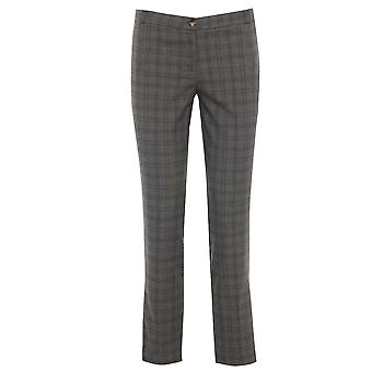 Taupe Brown Tailored Checked Trouser TRS151-16