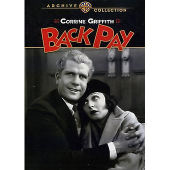 Back Pay (1930) [DVD] USA import
