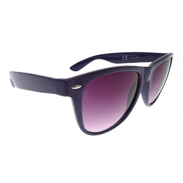 W.A.T Oversized Retro Wayfarer Style Sunglasses In Purple