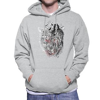 Jon Snow Dire Wolf And Crows Game Of Thrones Men's Hooded Sweatshirt