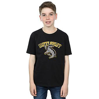 Harry Potter Boys Hufflepuff Sport Emblem T-Shirt