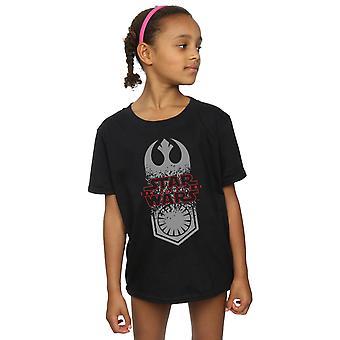 Star Wars Girls der letzten Jedi Symbol Crash T-Shirt