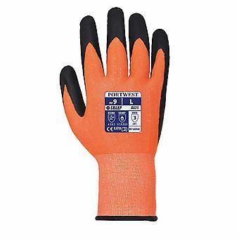 Portwest - Vis-Tex5 snitbeskyttende handske et par Pack