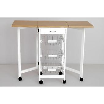 Sukima Decor Kitchen Trolley Bench (Home , Kitchen , Storage and pantry , Kitchen carts)