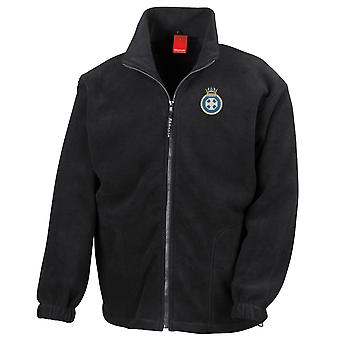 HMS Lindisfarne Embroidered Logo - Official Royal Navy Full Zip Fleece