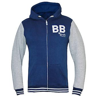 Bad Boy Kid's Varsity Hoodie - Gray/Blue