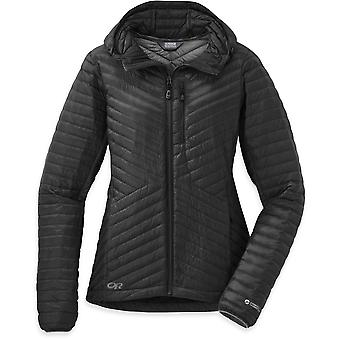 Outdoor Research Womens Verismo Hooded Down Jacket Black (UK Size 14)