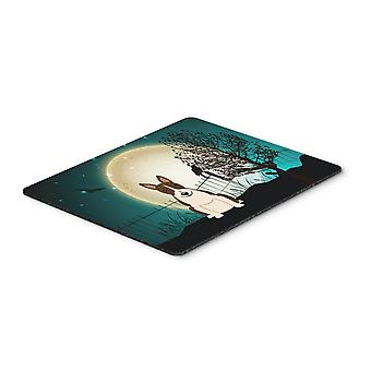 Halloween Scary Bull Terrier Dark Brindle Mouse Pad, Hot Pad or Trivet