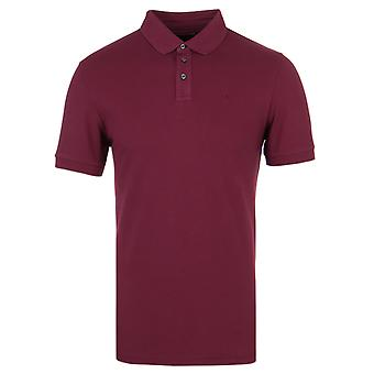 Hackett GMD donkerrood Stretch Pique poloshirt