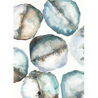 River Stones Poster Print by Lora Gold