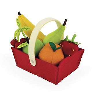 Janod Fabric Fruit Basket with 8 Fruits