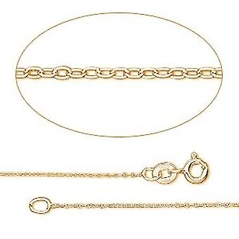 GEMSHINE 14 k 585 gold necklace. 1.5 mm anchor chain in a classic design with lengths from 40 to 76 cm