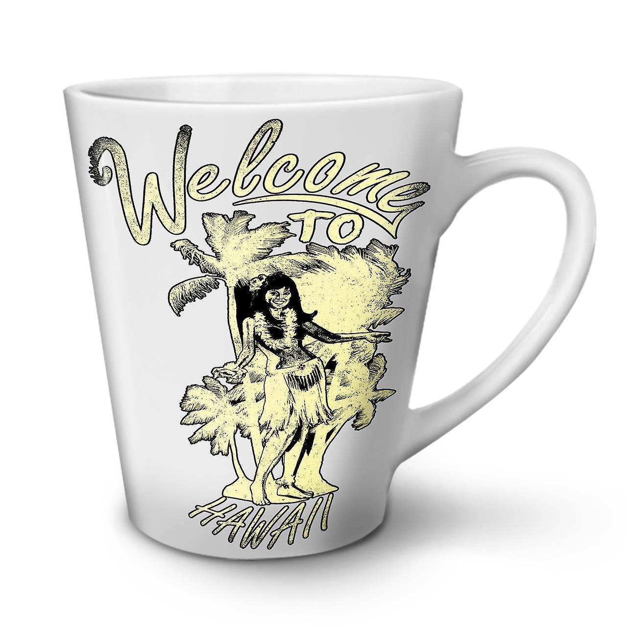 Blanche Céramique Vacances À Café Latte Hawaii Nouvelle En 12 Tasse OzWellcoda Bienvenue nvm8OyN0w