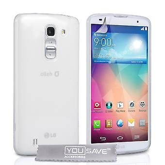 Yousave Accessories LG G Pro 2 Silicone Gel Case - Clear