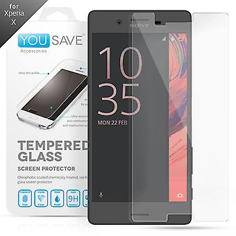 Yousave Accessories Sony Xperia X Glass Screen Protector
