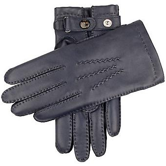 Dents Rushton Cashmere Lined Hairsheep Leather Gloves - Navy