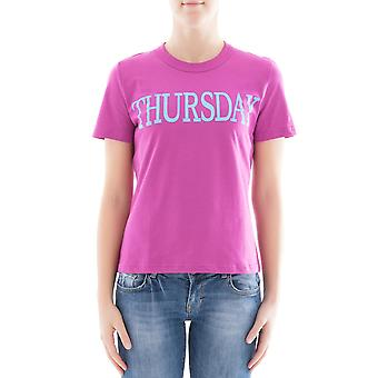 Alberta Ferretti women's 07011690261 pink cotton T-Shirt