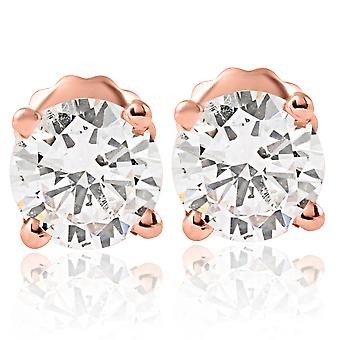 1 Cttw Diamant Ohrstecker 14K Rose Gold