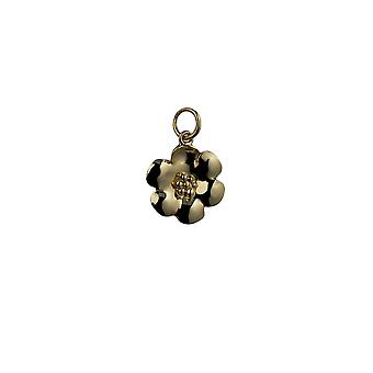 9ct Gold 15mm Flower Pendant or Charm
