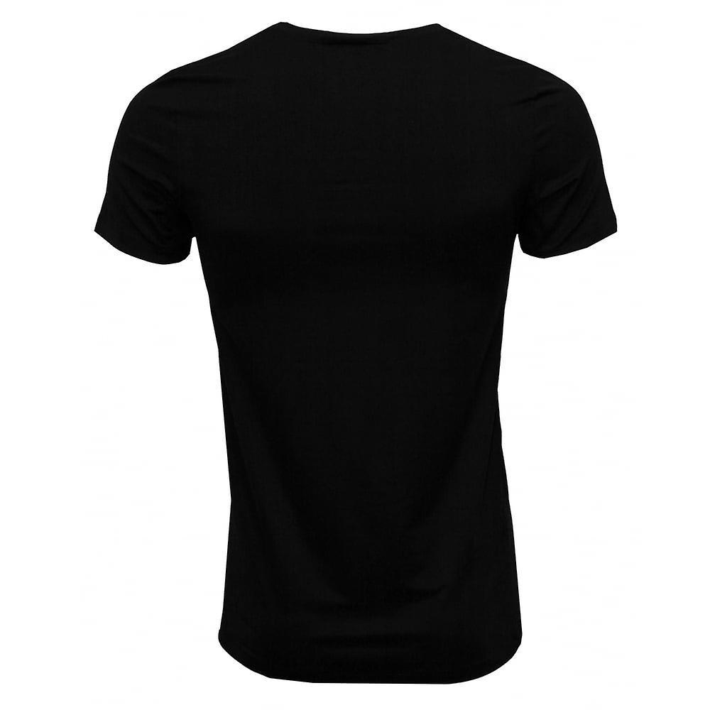 Hanro Cotton Superior Crew-Neck T-Shirt, Black