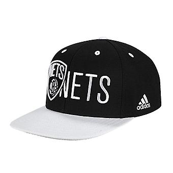 ADIDAS flatbrim Brooklyn Nets basketball flat cap [black/white]