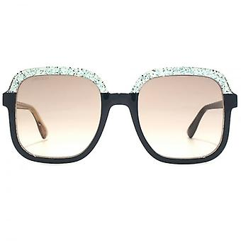 Jimmy Choo Glint Sunglasses In Green Pink Glitter
