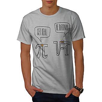 PI el número imaginario GreyT-camisa de los hombres | Wellcoda