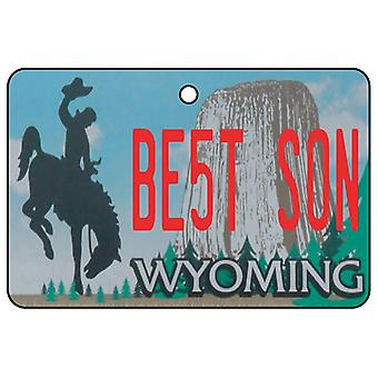 Wyoming - Best Son License Plate Car Air Freshener