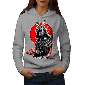 Japanese War Women GreyHoodie | Wellcoda