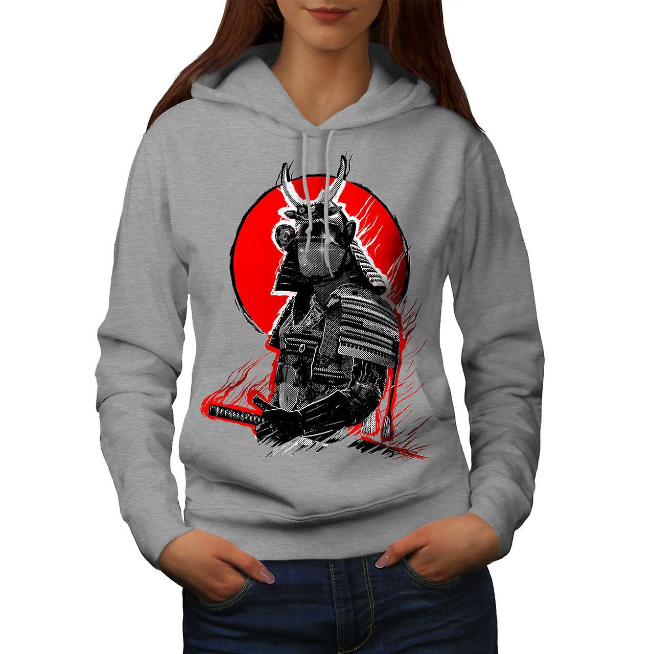 Japanese War Women GreyHoodie   Wellcoda