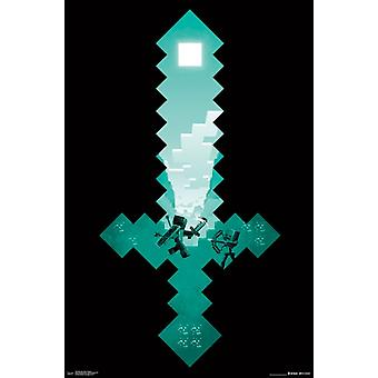 Minecraft - Diamond Sword Poster Print