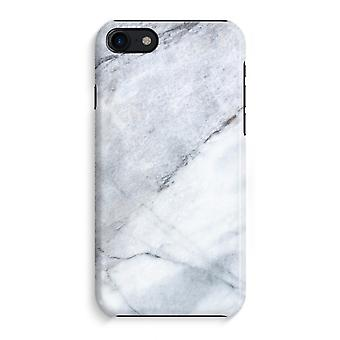 iPhone 8 Full Print Case (Glossy) - Marble white