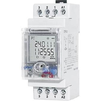 DIN rail mount timer Operating voltage: 230 V AC ENTES DTR-20 2 change-