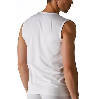 Mey 46037 Men's White Dry Cotton V-Neck Tank Vest Top
