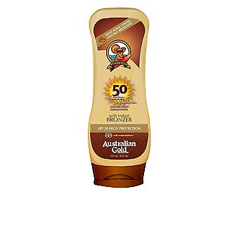 Australian Gold Sunscreen Spf50 Lotion With Bronzer 237ml Unisex