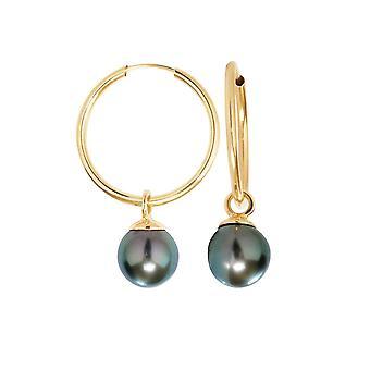 Kolczyki w uchu obręcze Tahitian perły i żółte złoto 750/1000