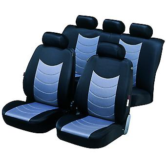 Felicia Car Seat Cover For Black & Silver For Volkswagen POLO van 1994 to 1999