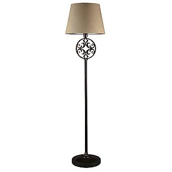 Maytoni Lighting Rustika House Collection Floor Lamp, Brown