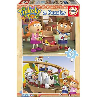 Educa 2x20 Tickety Toc Puzzles (Babies and Children , Toys , Boardgames , Puzzles)
