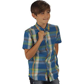 Regatta Boys Crayford Coolweave Cotton Checked Button Up Shirt