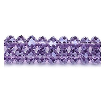 Strand 70+  Violet Czech Crystal Glass 9 x 12mm Faceted Rondelle Beads GC3537-5