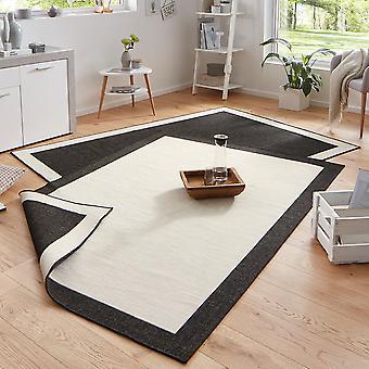 Draaien tapijt Panama room zwarte in- & outdoor