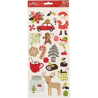 Merry Merry Cardstock Stickers 5.5