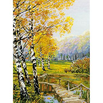 The Birches Counted Cross Stitch Kit-10.25