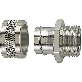 HellermannTyton 166-31005 PSC25-FM-M25 HelaGuard Metallic Conduit Screw Fitting Nickel-plated brass Metal