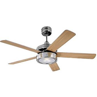 Westinghouse Hercules Ceiling fan (Ø) 132 cm Wing colour: Beech, Maple Case colour: Nickel (brushed)