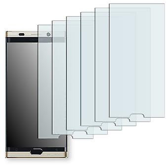 Gionee M2017 display protector - Golebo Semimatt protector (deliberately smaller than the display, as this is arched)