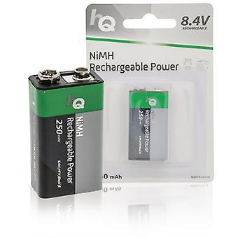 Hq HQHF9-250/1B Oplaadbare Nimh 9v-batterij 250 Mah, 1-blister
